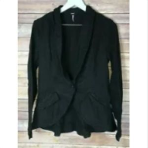 NWT FREE PEOPLE Black Blazer Jacket XS $128